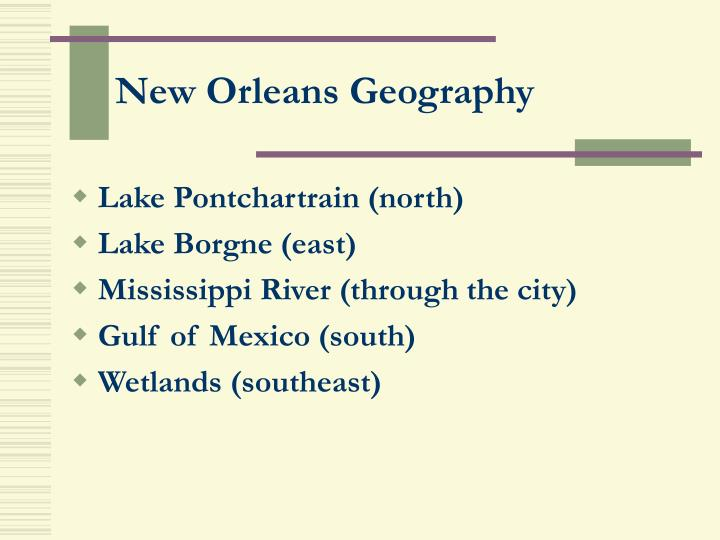 New orleans geography