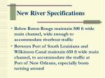 new river specifications
