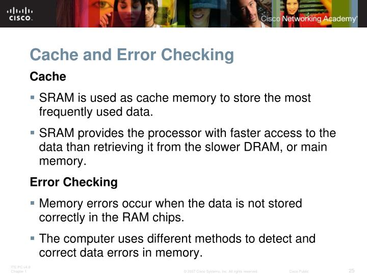 Cache and Error Checking