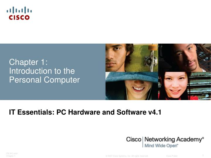 Chapter 1: Introduction to the Personal Computer