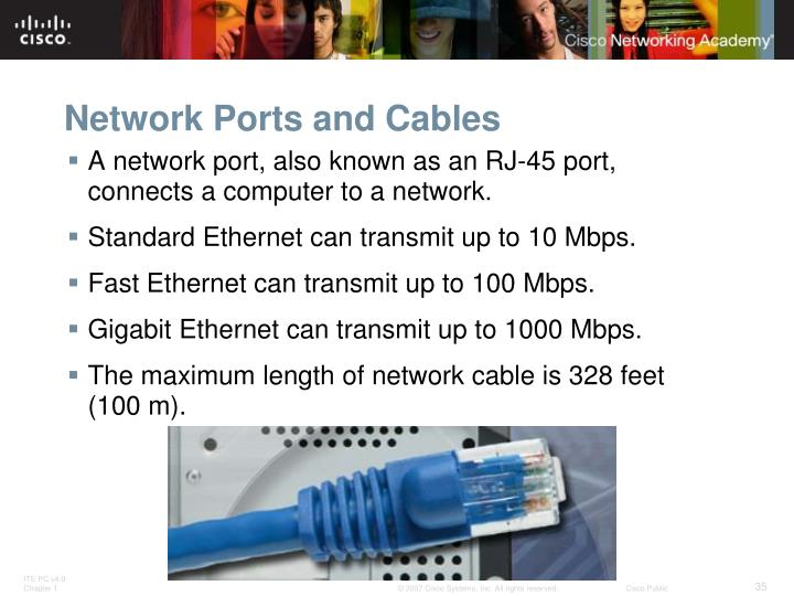 Network Ports and Cables
