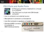 ps 2 ports and audio ports