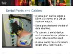serial ports and cables