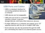 usb ports and cables