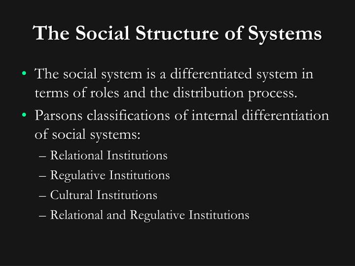 The Social Structure of Systems