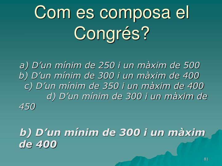 Com es composa el Congrés?