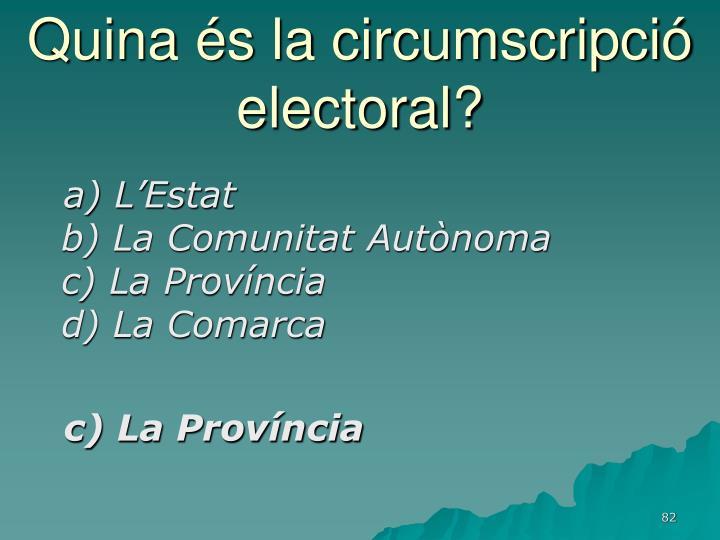 Quina és la circumscripció electoral?