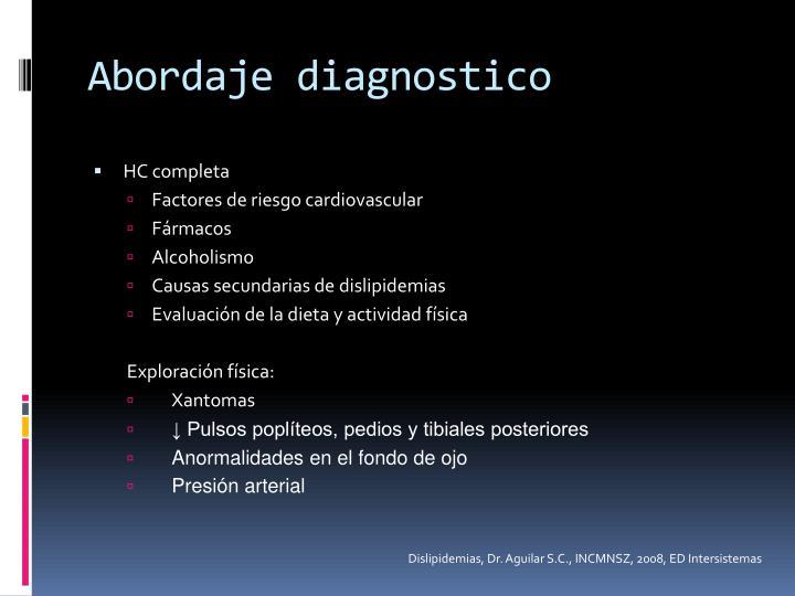 Abordaje diagnostico