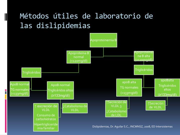 Métodos útiles de laboratorio de las dislipidemias