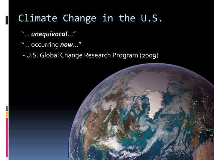 Climate Change in the U.S.