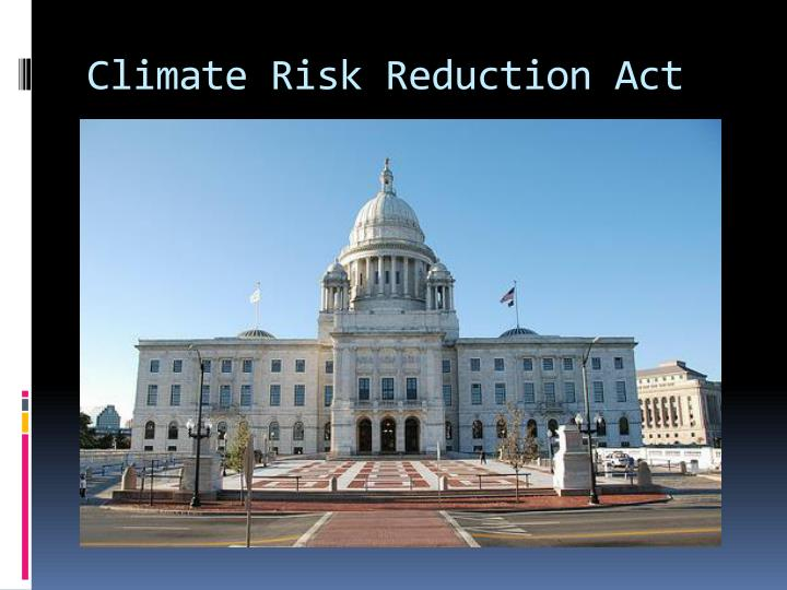 Climate Risk Reduction Act