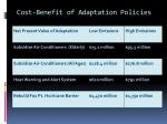 cost benefit of adaptation policies