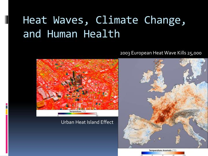 Heat Waves, Climate Change, and Human Health