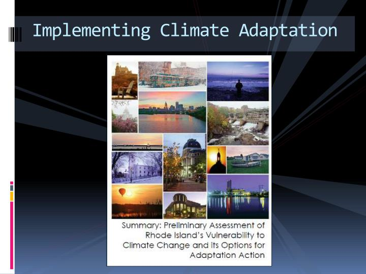 Implementing Climate Adaptation
