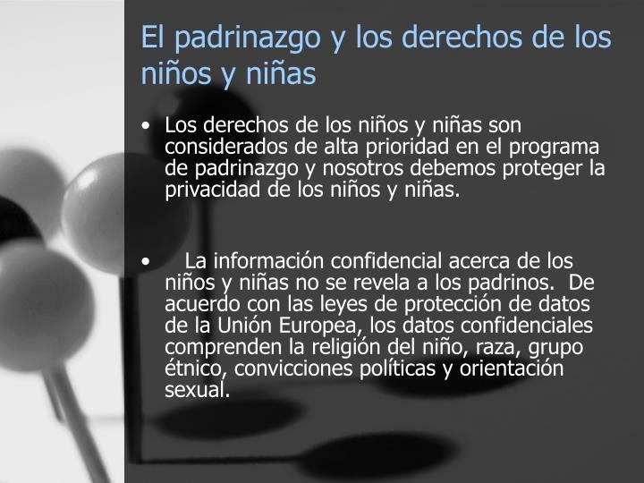 El padrinazgo y los derechos de los niños y niñas