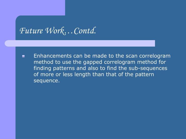 Future Work…Contd.