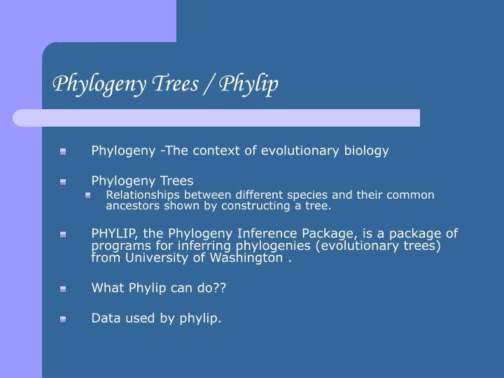 Phylogeny Trees / Phylip