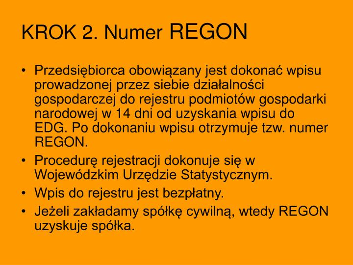 KROK 2. Numer