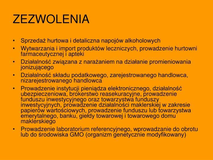 ZEZWOLENIA