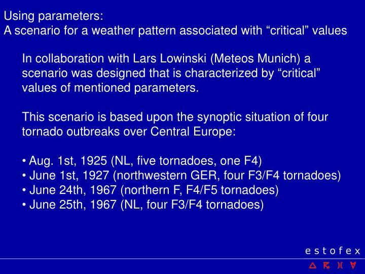 Using parameters: