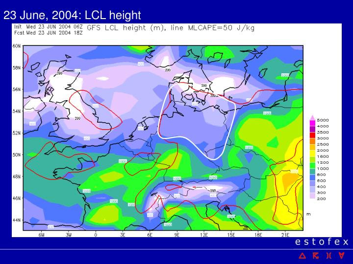 23 June, 2004: LCL height