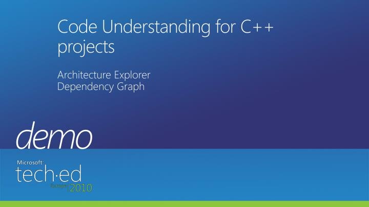 Code Understanding for C++ projects