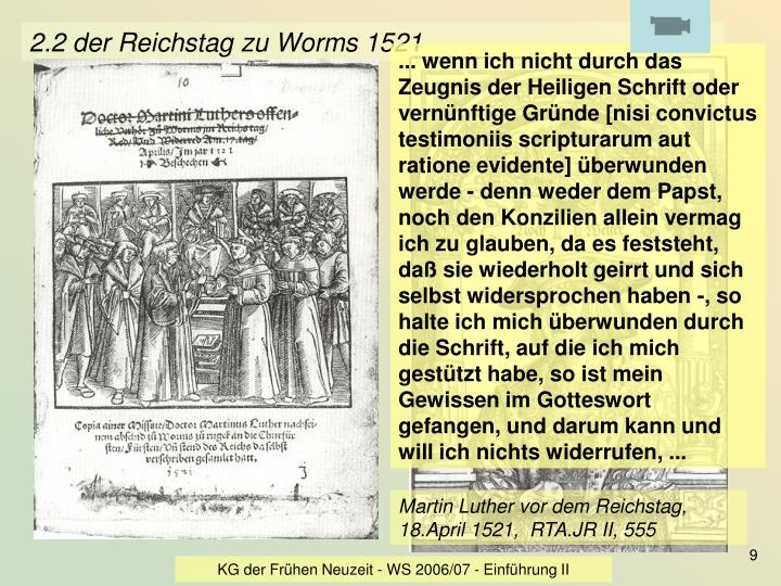 2.2 der Reichstag zu Worms 1521