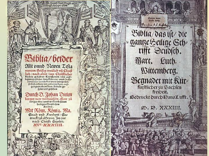 3.1.4 der Buchdruck – die Lutherbibel