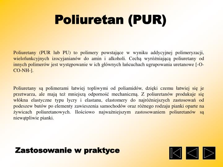 Poliuretan (PUR)