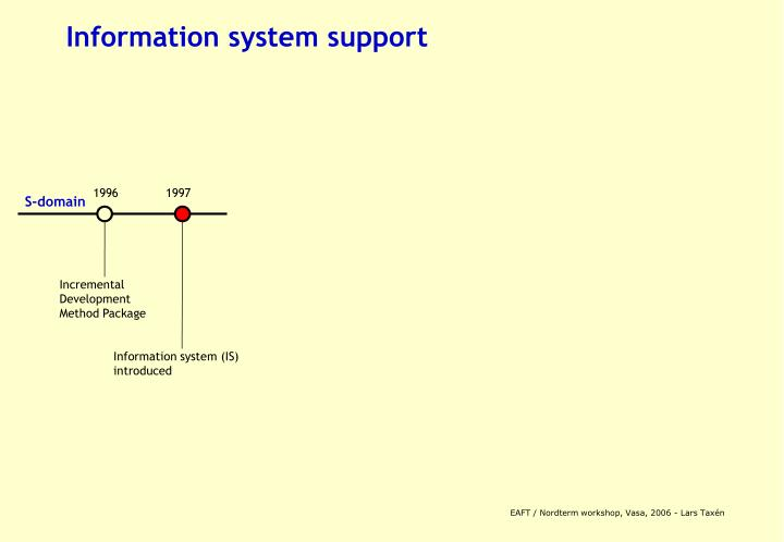 Information system support