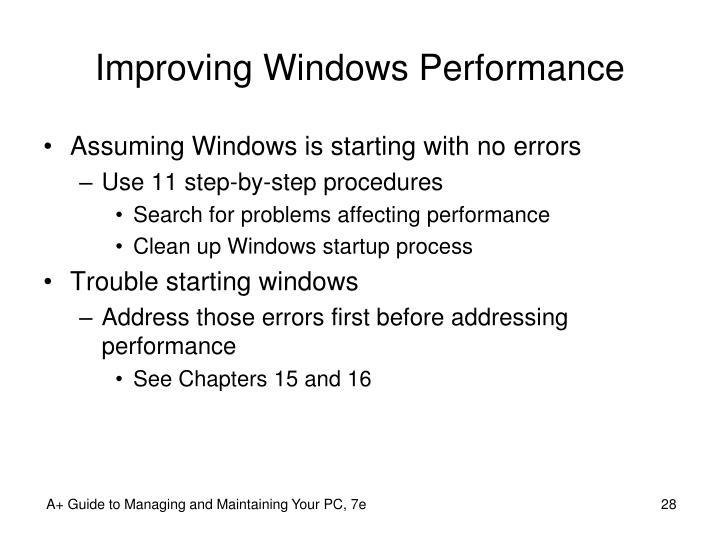 Improving Windows Performance
