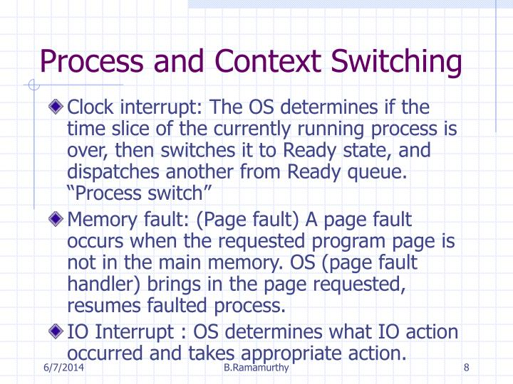 Process and Context Switching