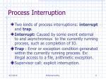 process interruption