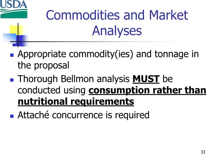 Commodities and Market Analyses