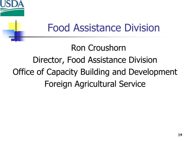 Food Assistance Division