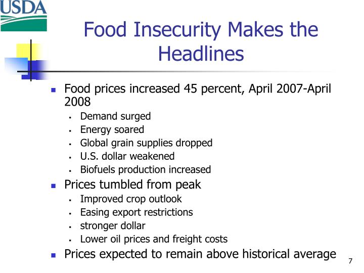 Food Insecurity Makes the Headlines