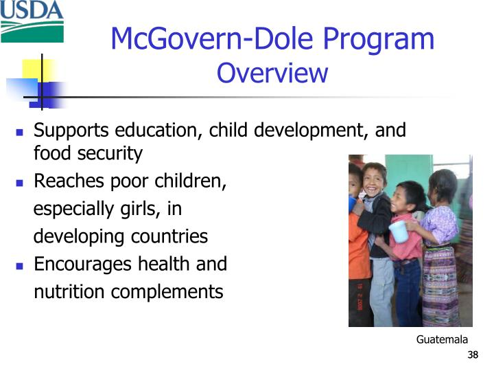 Supports education, child development, and food security