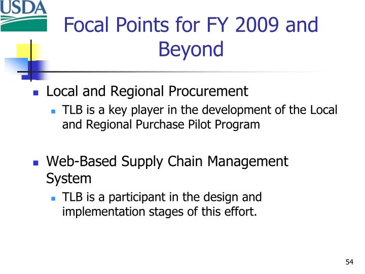 Local and Regional Procurement