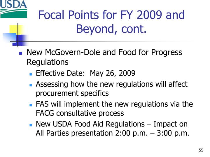 New McGovern-Dole and Food for Progress Regulations