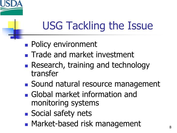USG Tackling the Issue