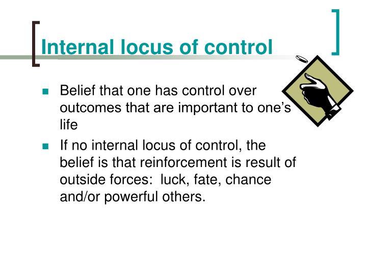 Internal locus of control
