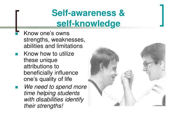 Self-awareness &