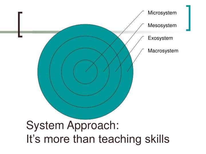 System Approach: