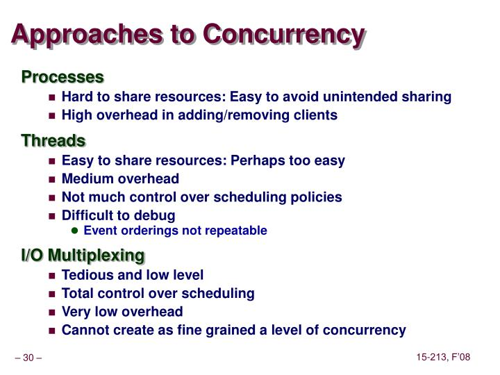 Approaches to Concurrency