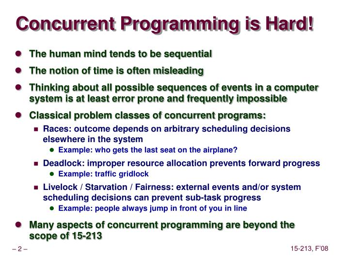 Concurrent Programming is Hard!