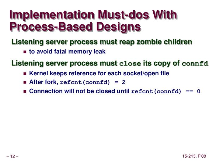 Implementation Must-dos With