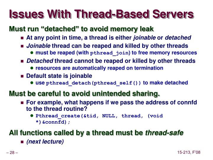Issues With Thread-Based Servers