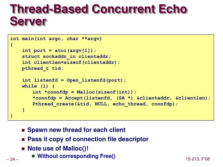 Thread-Based Concurrent Echo Server