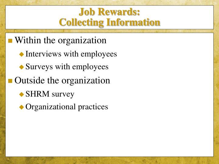 Job Rewards:
