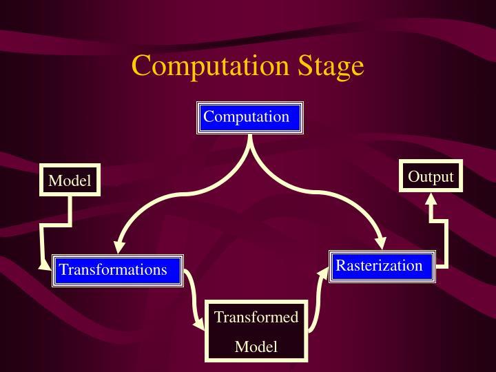 Computation Stage